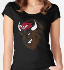 Shadaloo Bison logo Women's Fitted Scoop T-Shirt