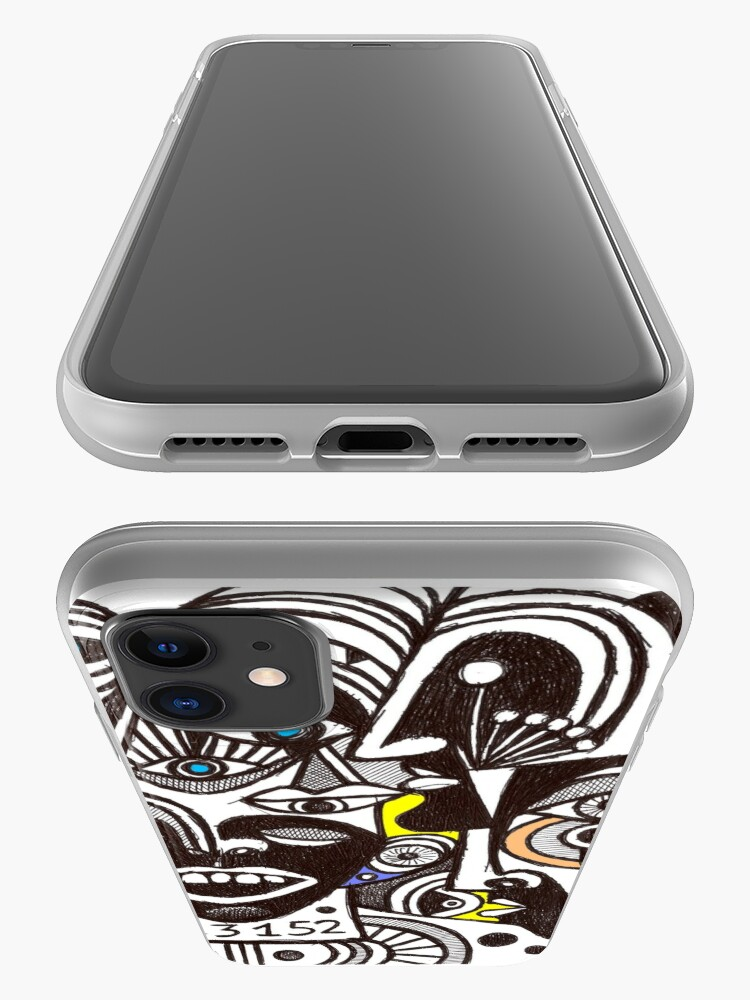 Alternate view of Marie Laforet singer (original pen drawing) iPhone Case & Cover