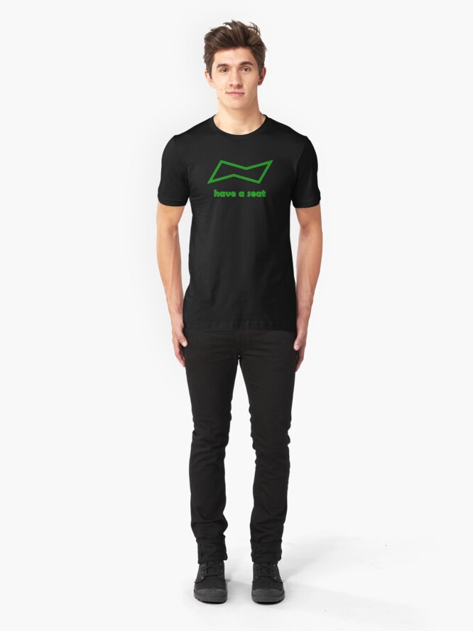Alternate view of have a seat (chemistry chair conformation symbol) Slim Fit T-Shirt