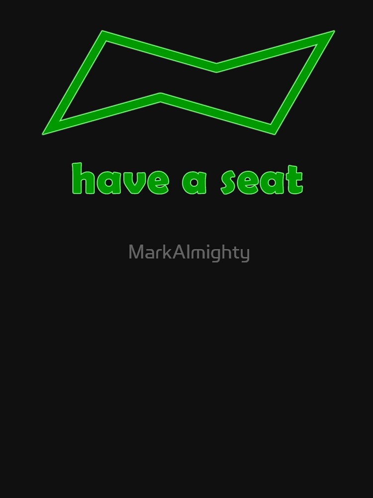 have a seat (chemistry chair conformation symbol) by MarkAlmighty