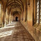 St John College, Cambridge Gothic corridor by Robert Ellis