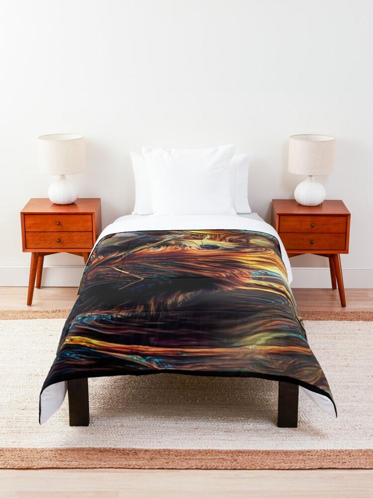 Alternate view of Red Panda Daze Comforter