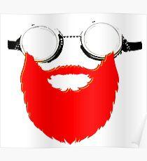 Beard Goggles Poster