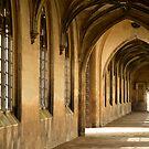 St John College, Cambridge Gothic corridor 2 by Robert Ellis