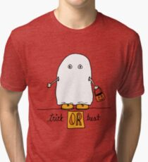 Trick or Treat doodle Tri-blend T-Shirt