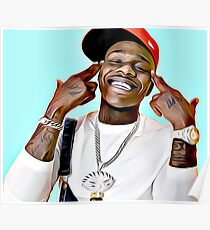 DaBaby Cartoon Painting Poster