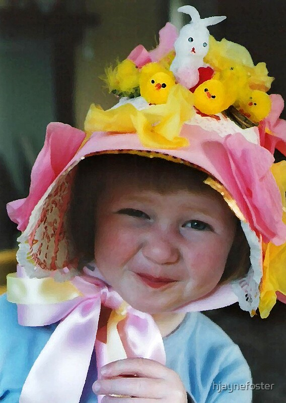 Quot Easter Bonnet Quot By Hjaynefoster Redbubble