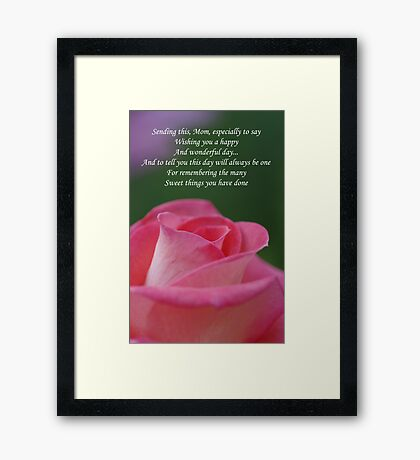 Mother's Day Card 3 Framed Print