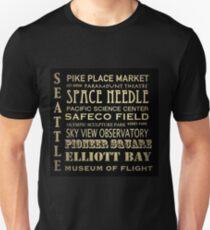 Seattle Washington Famous Landmarks Unisex T-Shirt
