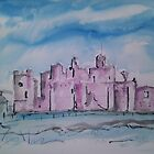 'A Study Of Middleham Castle' by Martin Williamson (©cobbybrook)