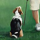 Beagle Sit by Charlotte Yealey