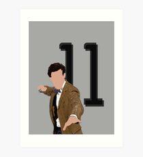 11th Doctor Art Print