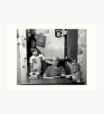 Abuela y Nieto Art Print