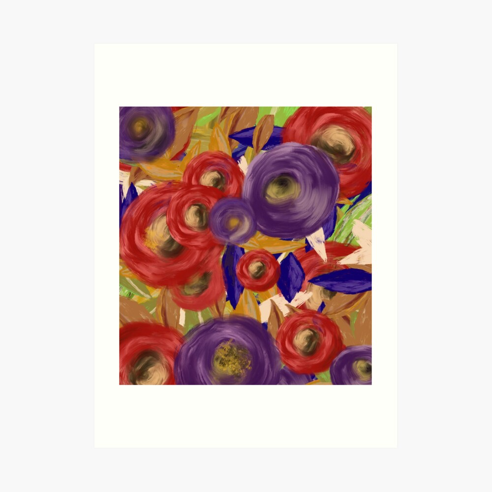 Red and Purple Garden by Jami Amerine Art Print