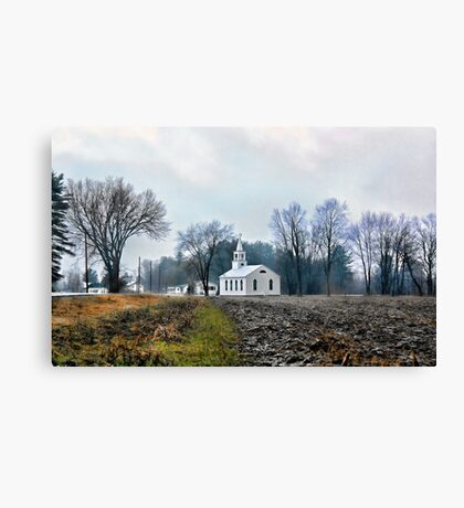-A Quiet April Morning - Fryeburg Harbor,  Maine Canvas Print