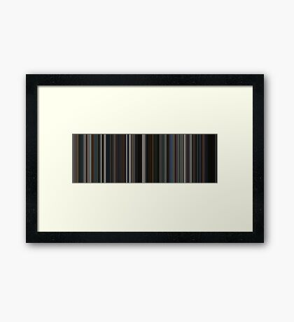 Moviebarcode: The Dark Knight (2008) [Simplified Colors] Framed Print