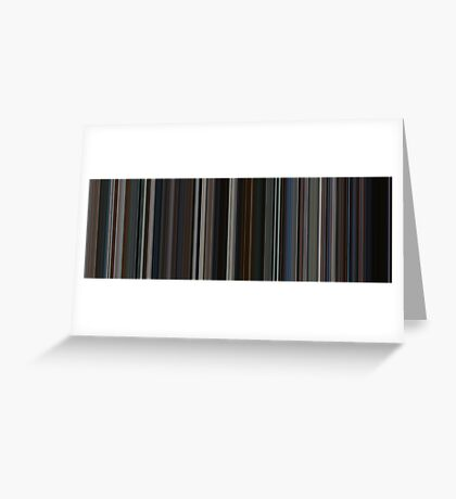 Moviebarcode: The Dark Knight (2008) [Simplified Colors] Greeting Card
