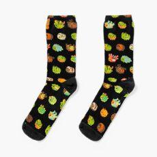 Caterpillar - dark Socks