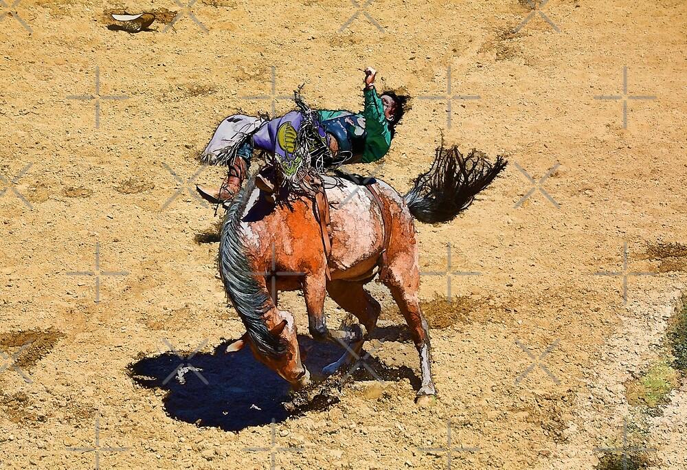 Bucking Bronco and Rodeo Cowboy Art  by Skye Ryan-Evans