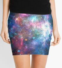 Nebula Galaxy Print Mini Skirt