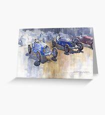 Bugatti 51 Alfa Romeo 8C 1933 Monaco GP Greeting Card