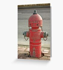 The INCHEON red hydrant robots Greeting Card
