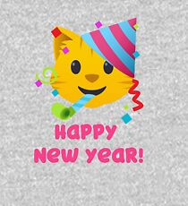 Happy New Year Cat Emoji Kids Pullover Hoodie