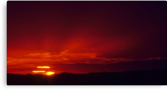 Crimson Sunset Ray Expanse by Ron Deage