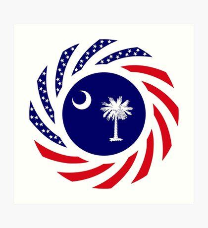 South Carolina Murican Patriot Flag Series Art Print