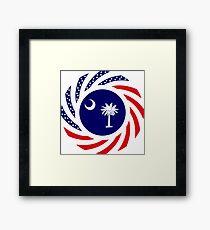 South Carolina Murican Patriot Flag Series Framed Print