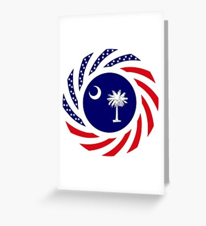 South Carolina Murican Patriot Flag Series Greeting Card