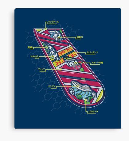 Hover Board Anatomy Canvas Print