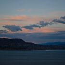 As the Sunsets on Okanagan Lake by Michael Garson