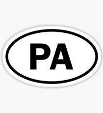 Pennsylvania - PA - oval sticker and more Sticker