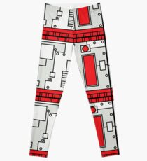 Metal Lab - Ghost Gear Red - Danny Phantom Leggings