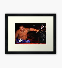 "Tribute To Big Bill Anderson ""Starman Jr. - Spinning Wristlock"" Framed Print"