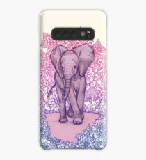 Cute Baby Elephant in pink, purple & blue Case/Skin for Samsung Galaxy