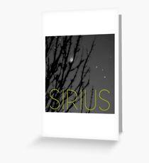 Sirius Greeting Card