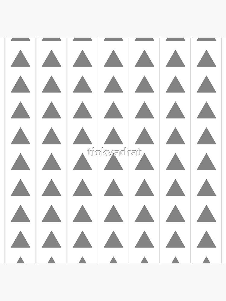 Pyramids - Gray on White by tiokvadrat
