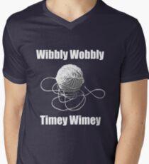 Wibbly Wobbly Timey Wimey  Men's V-Neck T-Shirt