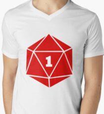 Critical Fail (d20) Men's V-Neck T-Shirt