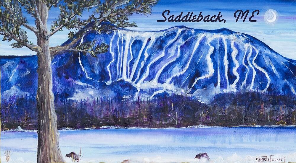 Saddleback Ski Mountain Maine by Angela Ferrari by ByFerrari