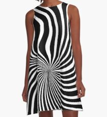 60's Op Art Black and White A-Line Dress