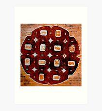 The Orange Plate (Collagraph 2) Art Print