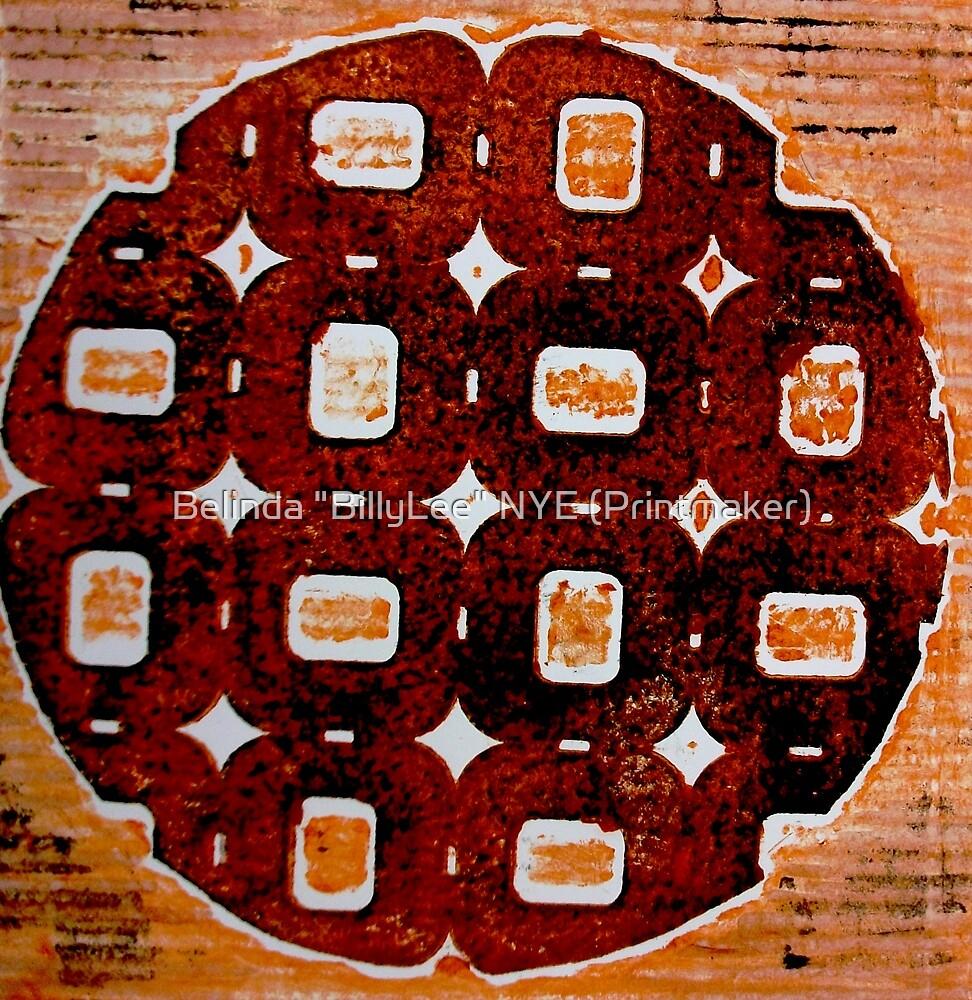 "The Orange Plate (Collagraph 2) by Belinda ""BillyLee"" NYE (Printmaker)"