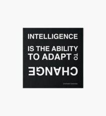 Lámina de exposición Inteligencia ~ Stephen Hawking