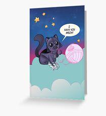 Darth Kitty    Greeting Card