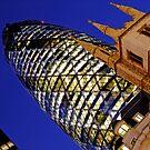 London Gherkin in a Blue Night by DavidGutierrez