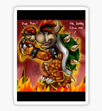Bowser and Jr Sticker