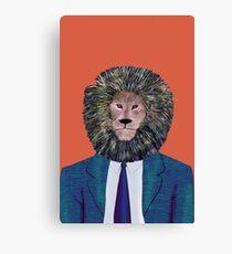 Mr. Lion's portrait Canvas Print